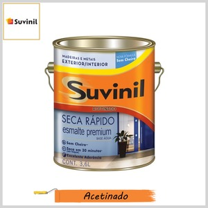 Esmalte Seca Rápido Base Água Premium Acetinado, Galão 3.6lt