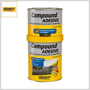 Adesivo Estrutural Compound Base Epóxi, 1kg(A+B)