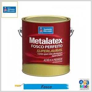 Tinta Acrílica Metalatex® Fosco Perfeito Premium Superlavável, Galão 3.6lt