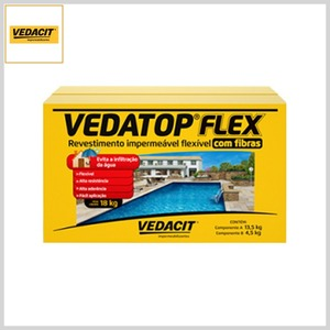 Revestimento Impermeável Flexível Vedatop Flex Fibras, 18kg