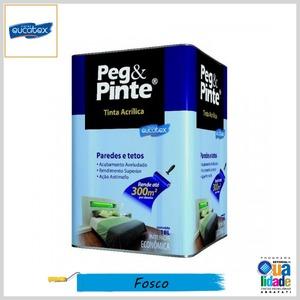 Tinta Acrílica Peg&Pinte Econômica Fosco, Lata 18lt