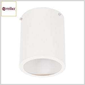 Plafon de Alumínio 108 Cilíndrico 1xE27 c/Vidro Jateado