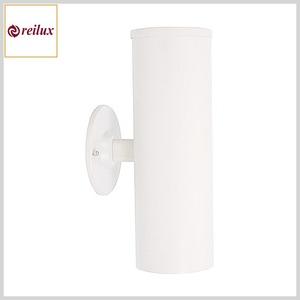 Arandela de Alumínio 130 2xE27 Tubo c/Vidro Superior Temperado