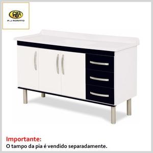 Armário de Cozinha Munique 144.2cm Mdp 5403 s/Tampo